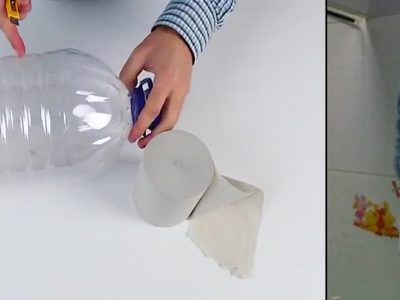 Making a Toilet Tissue Holder with Plastic Bottle