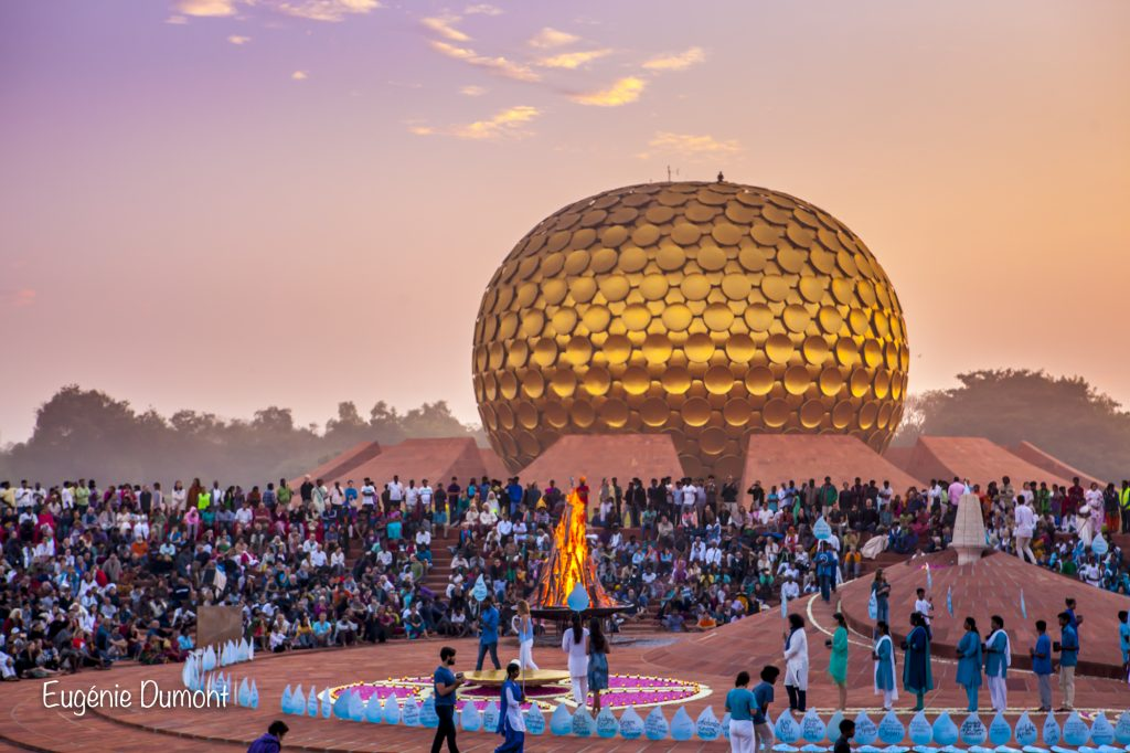 Auroville Fire and Water Anniversary Ceremony