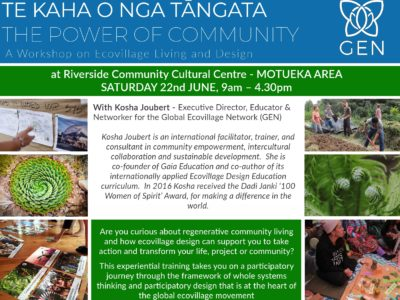 TE KAHA O NGA TANGATA – THE POWER OF COMMUNITY – 1 day workshop
