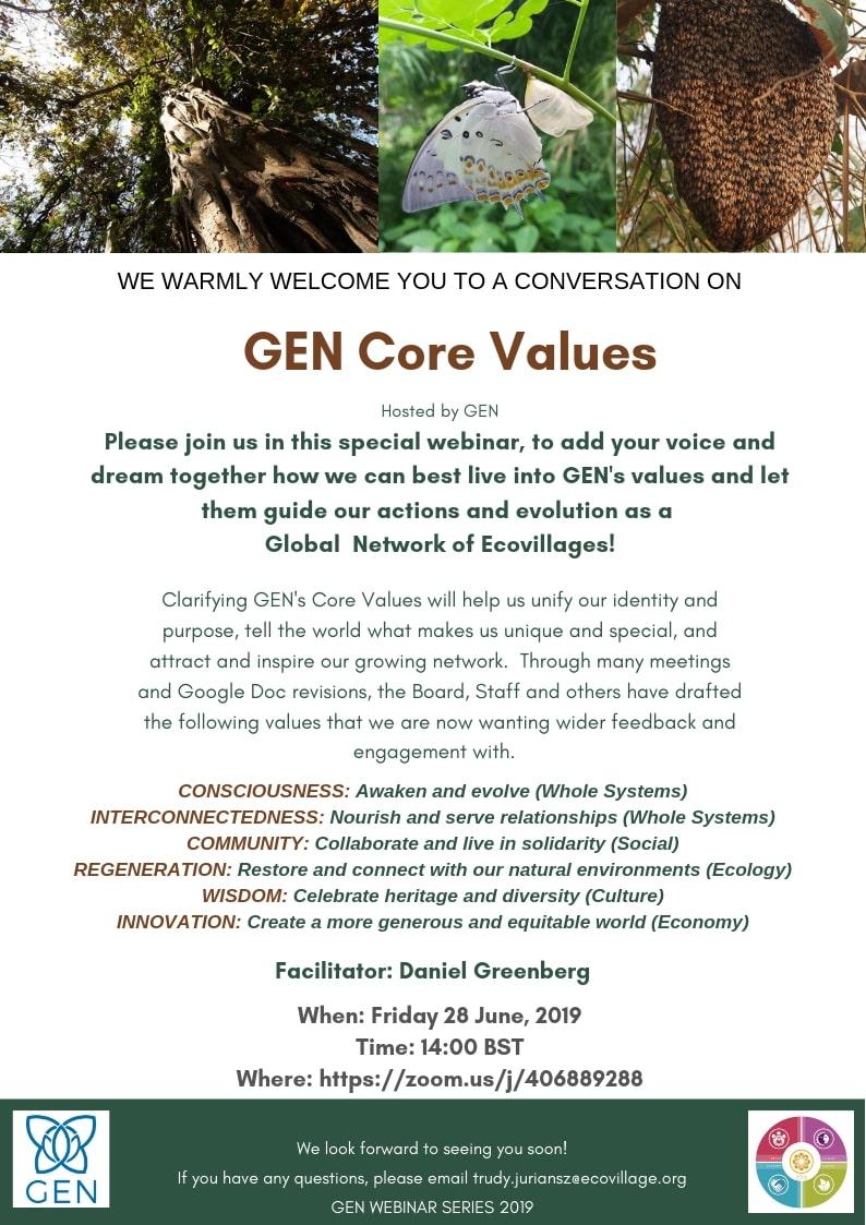 Webinar GEN Core Values