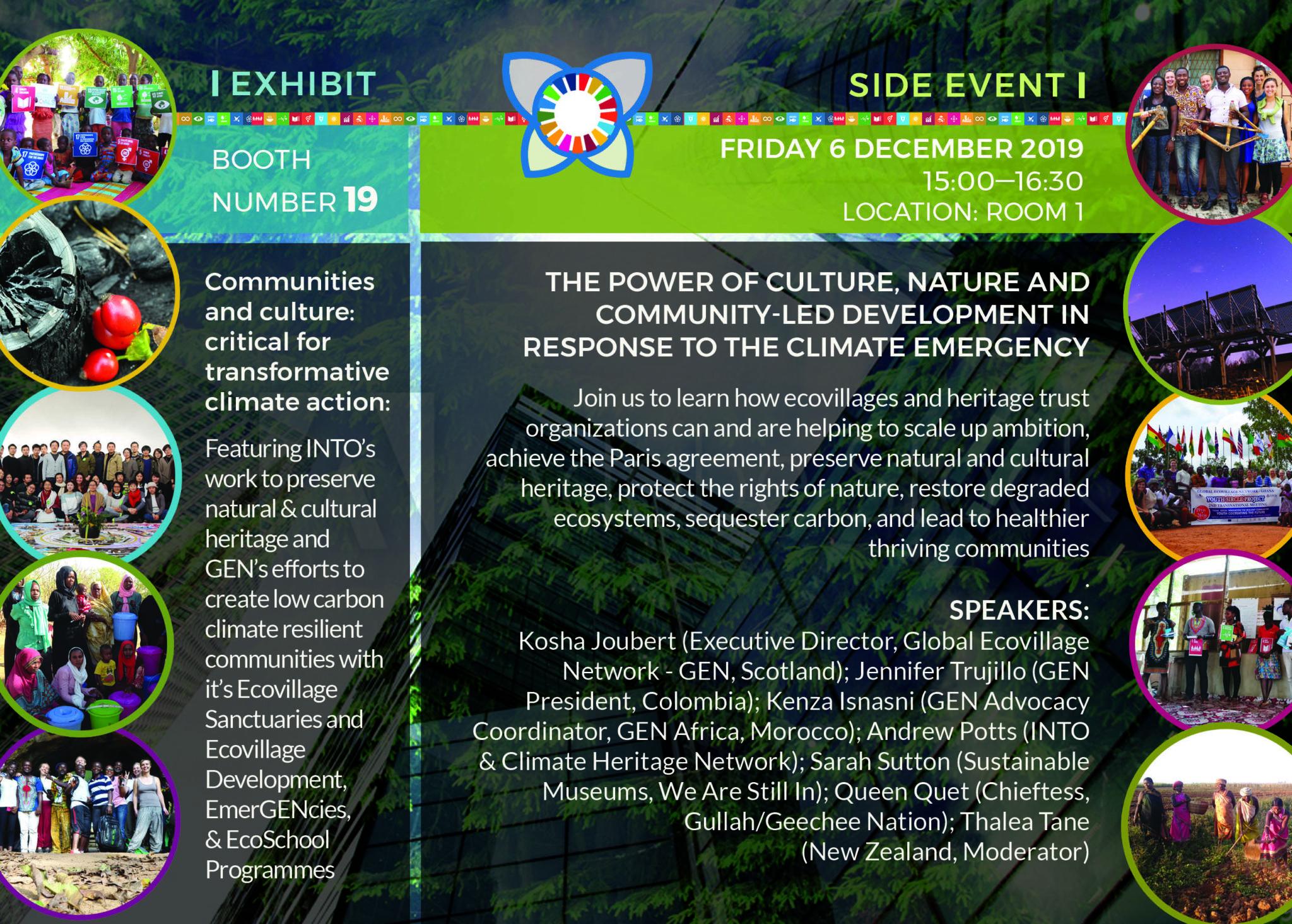 COP25 Global Ecovillage Network Flyer back