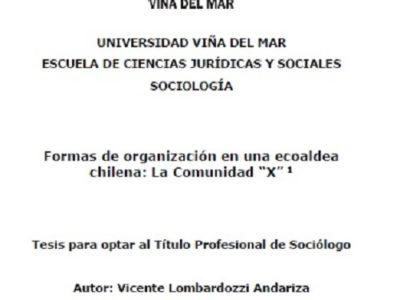 """Tesis sociológica: Formas de organización social de la Ecoaldea """"X"""""""