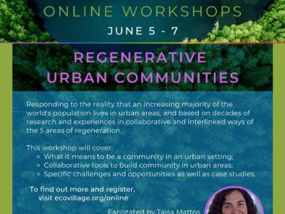 Regenerative Urban Communities Online Workshop